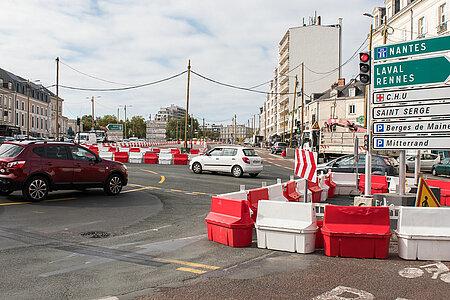 """Les travaux de voirie du """"L"""" de la nouvelle ligne de tramway démarrent. <i>(Photo: Jean-Patrice Campion, Ville d'Angers)</i>"""