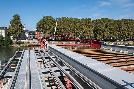 Le lancement d'une section du nouveau pont est prévu en octobre. <i>(Photo: Jean-Patrice Campion, Ville d'Angers)</i>