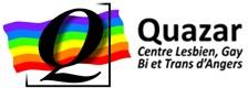 Logo QUAZAR, CENTRE LESBIEN, GAY, BI, TRANS ET INTERSEXE D'ANGERS + CULTURES ET LIBERTES HOMOSEXUELLES LGBT +