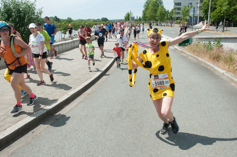 L'effort n'empêche pas la bonne humeur pour les participants aux trails.