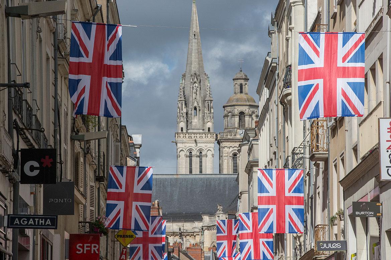Accroche-coeurs 2017, La ville pavoisée aux couleurs de l'Union Jack.