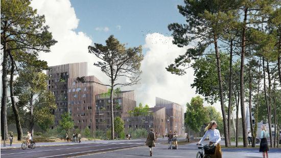 L'immeuble en bois sera construit à proximité du parc Saint-Nicolas.