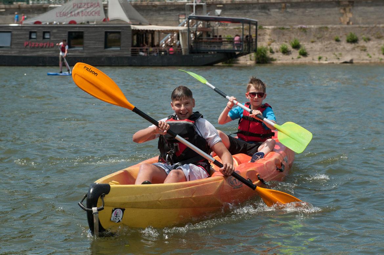 Soleil et bonne humeur étaient au rendez-vous toute la journée, y compris sur l'eau avec les activités nautiques.