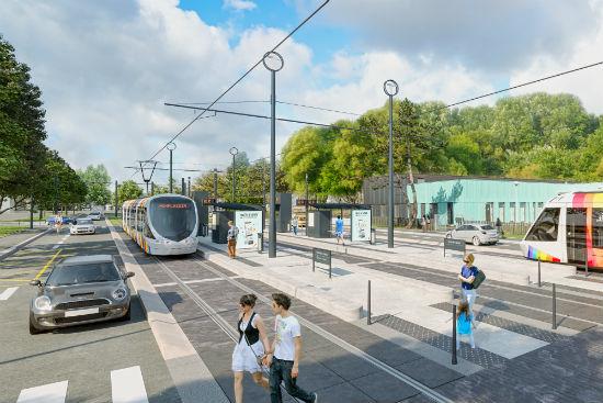 Le tram partira de la technopole, passera ensuite boulevard Patton, pour arriver jusqu'au boulevard du Bon Pasteur.