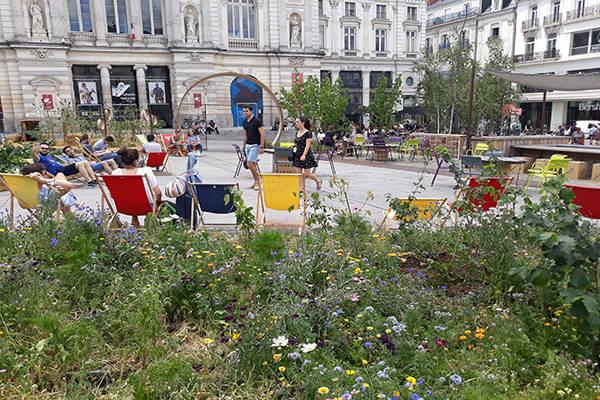 Le concours jardins d'expression visible sur la place du Ralliement