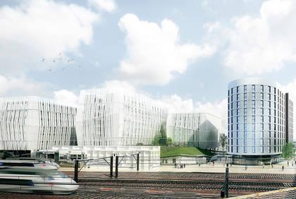 Cours Saint-Laud, vue d'architecte de l'ensemble Quatuor.