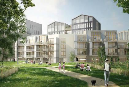 Cours Saint-Laud, vue d'architecte la place Giffard-Langevin.