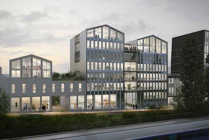 Cours Saint-Laud, vue d'architecte de l'immeuble Intencity.