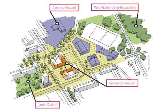 Le projet de rénovation de la place.