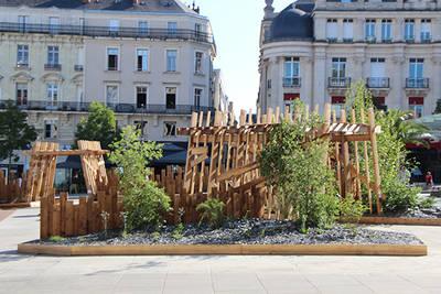 Un jardin au centre de la Terre, place du Ralliement cet été