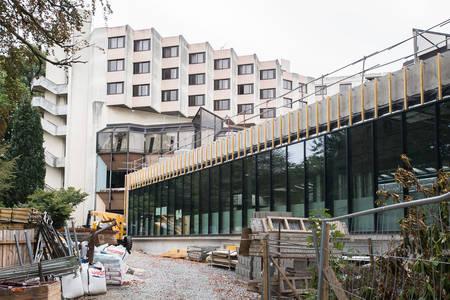 L'extension sur le jardin des Plantes en cours de réalisation. (Photo: Jean-Patrice Campion, Ville d'Angers)