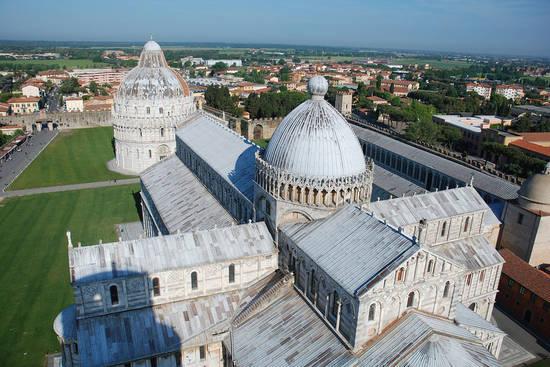Vue de Pise, ville jumelle d'Angers en Italie