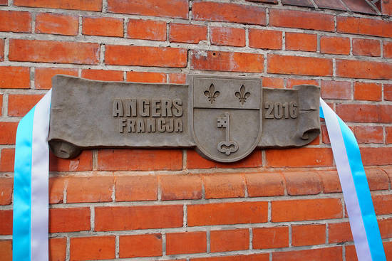 Vue de Toruń, ville jumelle d'Angers en Pologne