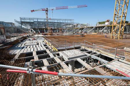 Au centre, la seconde piste de glace qui sera entourée d'une tribune de 3500 places. (Photo: Jean-Patrice Campion, Ville d'Angers)