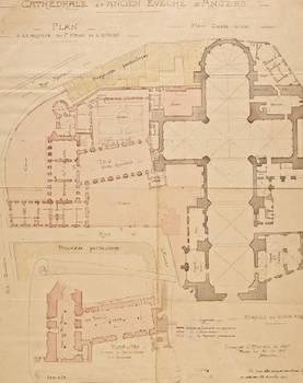Plan des deux salles basses et de la cathédrale.