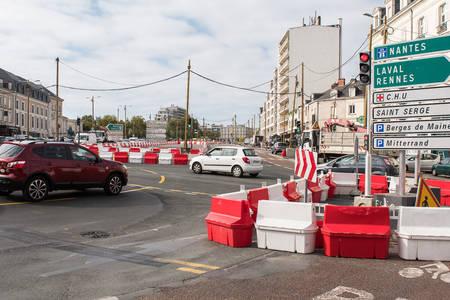 """Les travaux de voirie du """"L"""" de la nouvelle ligne de tramway démarrent. (Photo: Jean-Patrice Campion, Ville d'Angers)"""