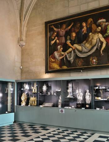 Photo de l'exposition du trésor de la cathédrale.