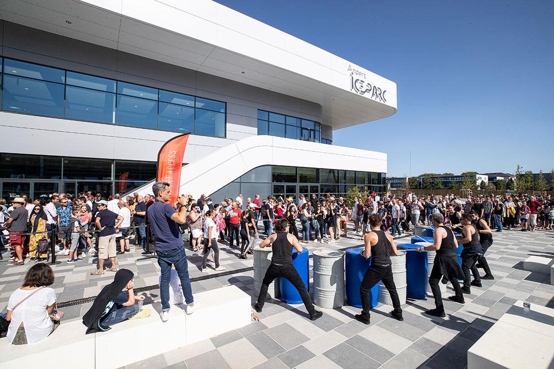Pour ce match inaugural, dimanche 15 septembre 2019, le public était au rendez-vous à Angers Iceparc.