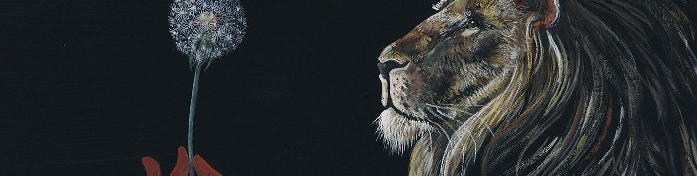 """Pissenlit """"Dent de lion"""" / Exposition BESTIAIRE BOTANIQUE à partir du 1er avril 2019 / Izumi Mattei-Cazalis - éditions A2MIMO"""