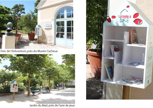 Boîtes à lire dans les parcs de la Ville d'Angers
