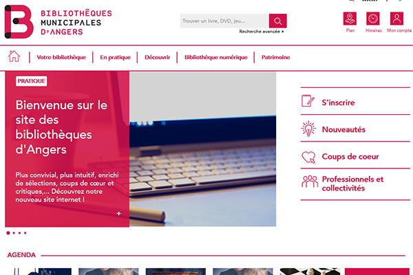 Le nouveau site des bibliothèques d'Angers est en ligne