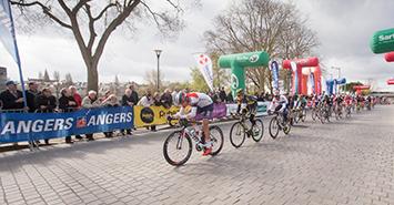 Image Le circuit cycliste Sarthe-Pays de la Loire fait étape à Angers