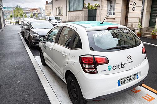 Photo d'un véhicule proposé par le service d'autopartage Citiz Angers.