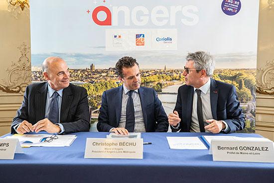 Annonce de l'installation de Coriolis à Angers