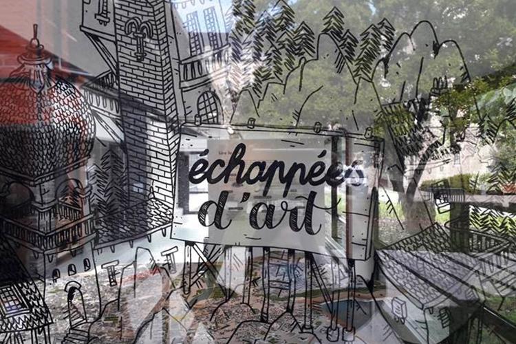 Photo de la fresque de Dupin et Duclos au Repaire urbain