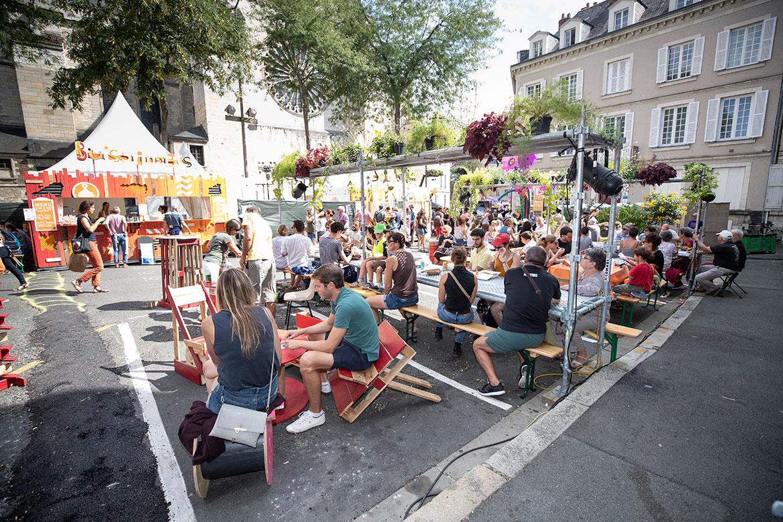 """Le """"village des saveurs"""" des Accroche-coeurs."""