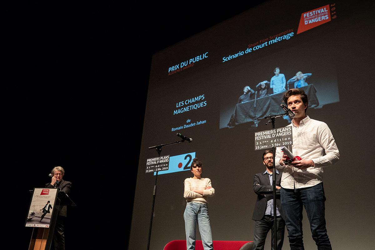 Prix du public, scénario de court-métrage: Les Champs magnétiques, de Romain Daudet-Jahan.