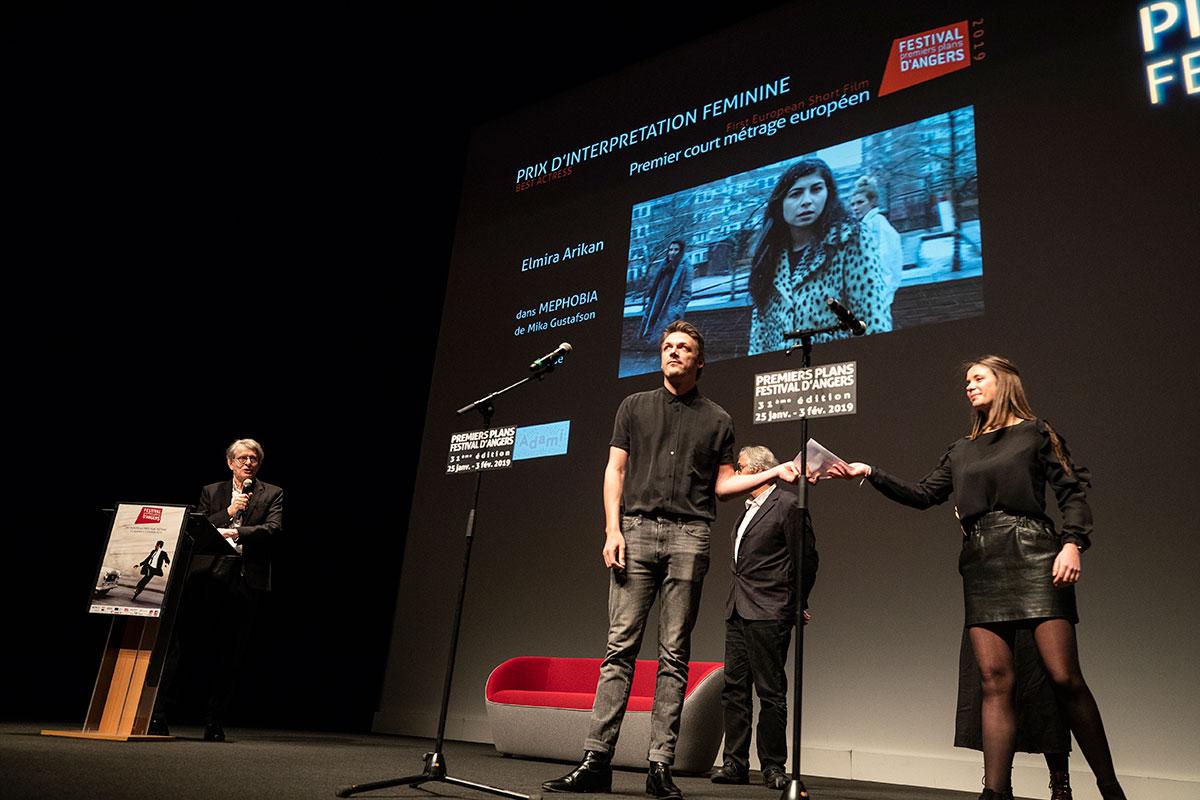 Prix d'interprétation féminine, courts-métrages européens: Elmira Arikan, dans Mephobia de Mika Gustafson.