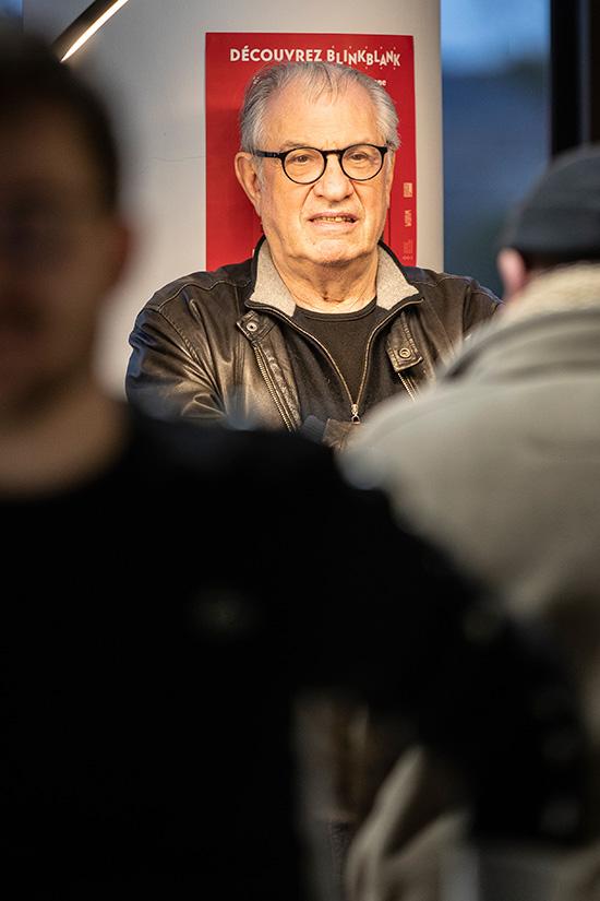 """Serge July, invité du festival dans le cadre de la rétrospective """"Profession: reporter""""."""