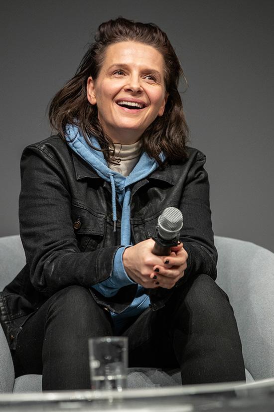Juliette Binoche, actrice et présidente du jury.