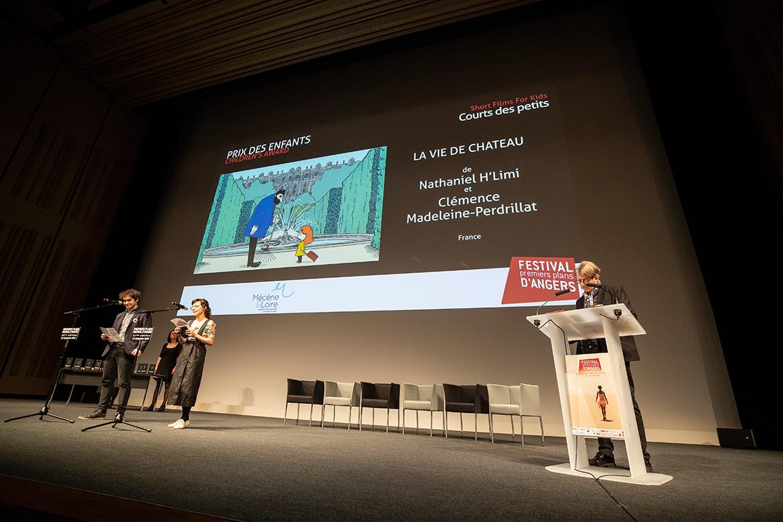 """Prix des enfants - courts des petits: """"La Vie de château"""", de Nathaniel H'Limi et Clémence Madeleine-Perdrillat."""