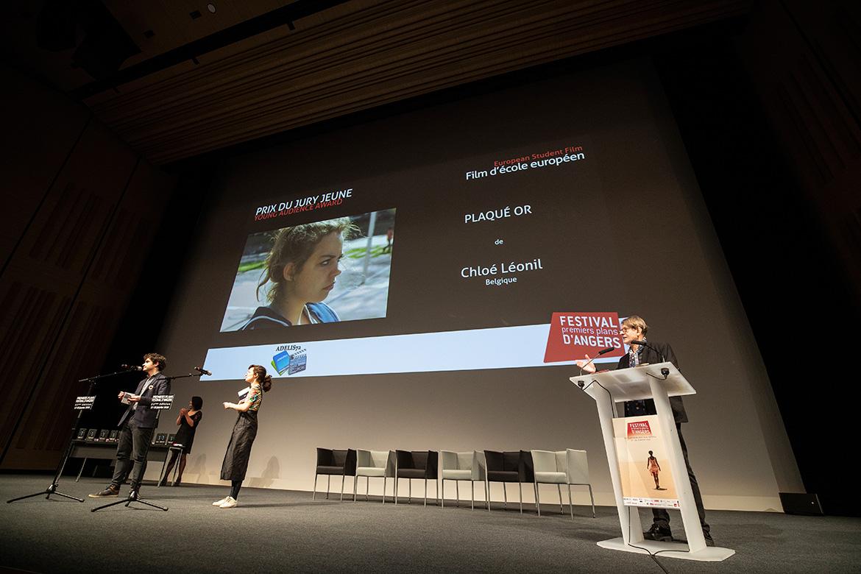 """Prix du jury jeune - Film d'école européen: """"Plaqué or"""" de Chloé Léonil."""
