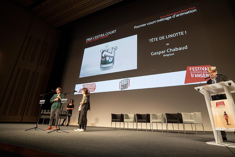 """Prix l'extra-court - Premier court-métrage d'animation: """"Tête de linotte!"""" de Gaspar Chabaud."""