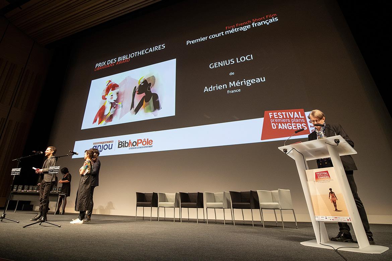 """Prix des bibliothécaires - Premier court-métrage français: """"Genius Loci"""", d'Adrien Mérigeau."""