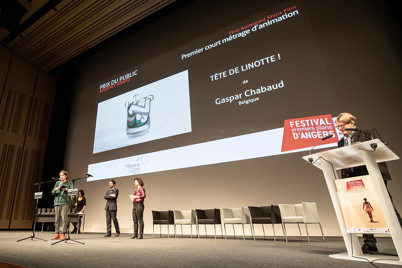 """Prix du public - Premier court-métrage d'animation: """"Tête de linotte!"""", de Gaspar Chabaud."""