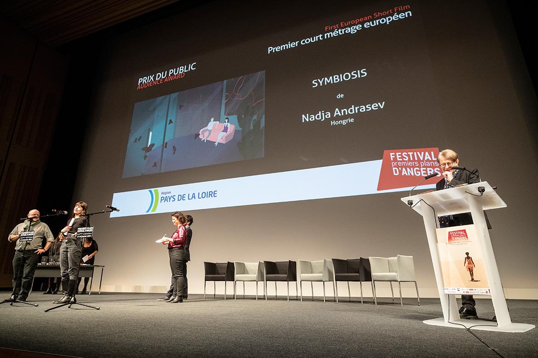 """Prix du public - Premier court-métrage européen: """"Symbiosis"""", de Nadja Andrasev."""