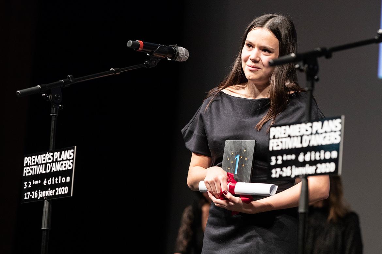 """Lilith Grasmug , prix d'interprétation féminine dans """"Noée dans la tempête""""."""