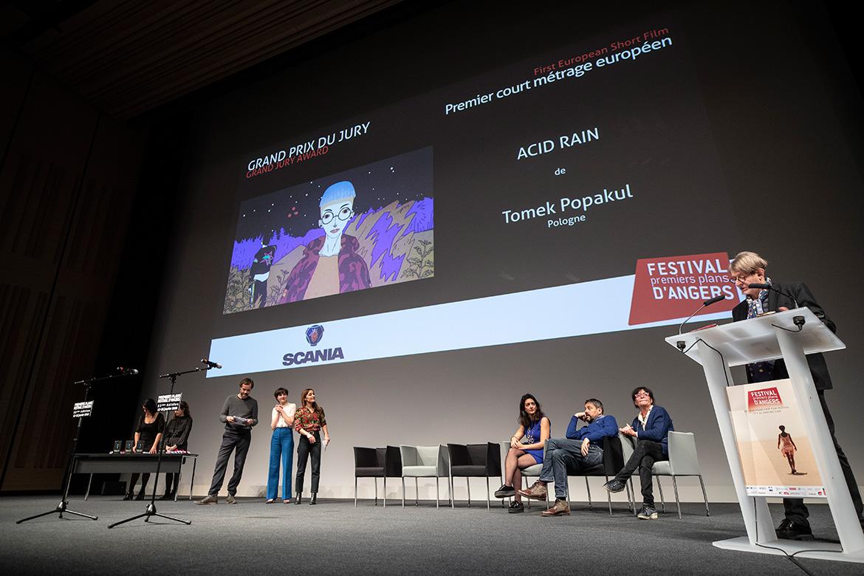 """Grand prix du jury - Premier court-métrage européen: """"Acid Rain"""", de Tomek Popakul."""