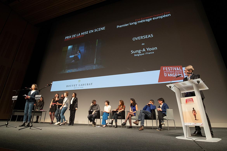 """Prix de la mise en scène - Premier long-métrage européen: """"Overseas"""", de Sung-A Yoon."""