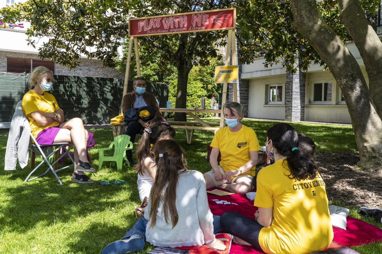 Photos des actions organisées au jardin du musée des Beaux-arts.