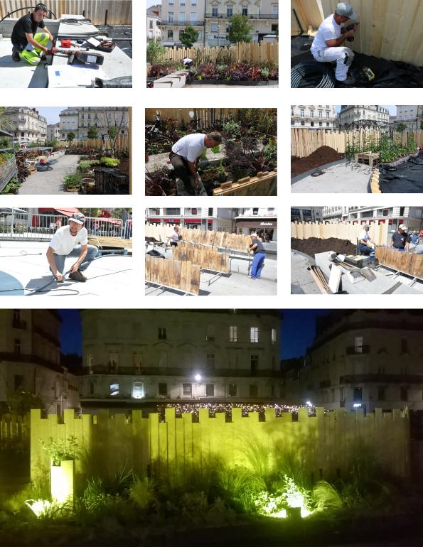"""""""La folie verte"""", jardin d'été place du Ralliement"""