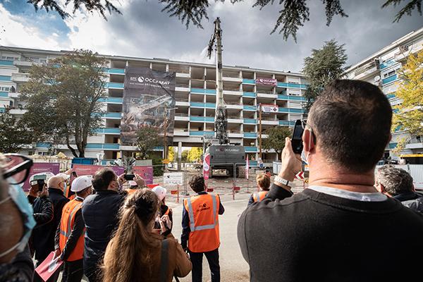 Rénovation urbaine: le porche Lyautey en cours de démolition