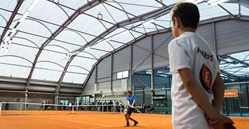 Image Court Central: l'équipement phare du nouveau parc des sports de La Baumette