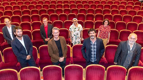 Photo de groupe des partenaires culturels du Grand Théâtre d'Angers.