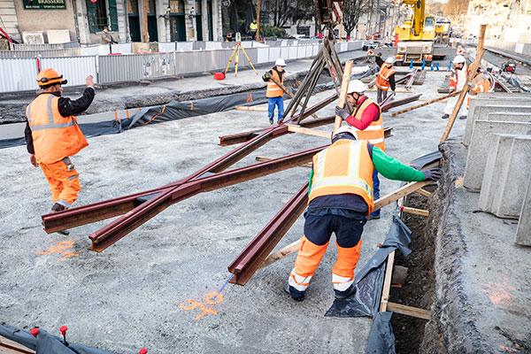 Le chantier des nouvelles lignes de tramway dans le bon timing