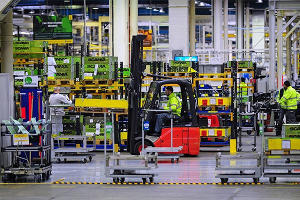 Photo de production à l'usine Sacnia.
